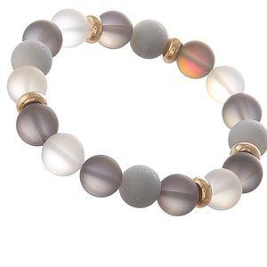 Iridescent Transparent Beaded Stretch Bracelet NWT